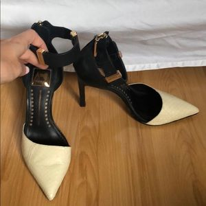 Dolce Vita Shoes - Dolce Vita sz 9 Black and White pointed toe heels